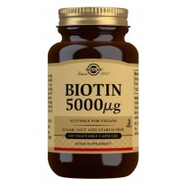 Solgar Biotin 5000 mcg Vegetable Capsules 100 Caps