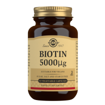 Solgar Biotin 5000 mcg Vegetable Capsules 50 Caps