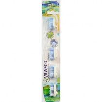 Yaweco Replaceable Toothbrush Brush Heads - Nylon - Soft x 4