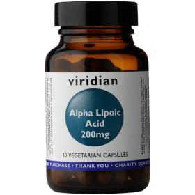 Viridian Alpha Lipoic Acid 200mg Veg Caps 30caps