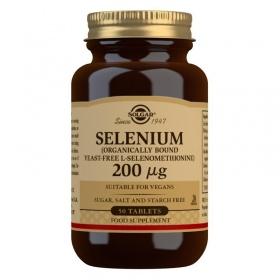 Solgar Selenium (Yeast-Free) 200 mcg Tablets - Pack of 50