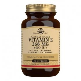 Solgar Natural Source Vitamin E 268 mg (400 IU) Softgels - Pack of 50