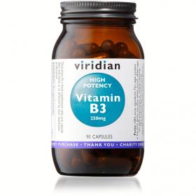 Viridian High Potency Vitamin B3 Veg Caps 90caps