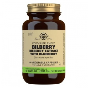Solgar Bilberry Berry Extract with Blueberry Vegetable Capsules - Pack of 60