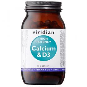 Viridian High Potency Calcium & D3 Veg Caps 90caps