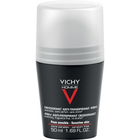 Vichy Homme 48hr Anti Perspirant Sensitive Skin Deodorant Roll-on 50ml