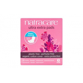 Natracare Ultra Extra Super Period Pads With Wings 10's