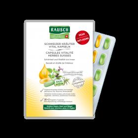 Rausch Swiss Herbal Vitality Capsules 30 x 2 Caps