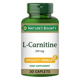 Nature's Bounty L-Carnitine 500 mg 30 Caplets
