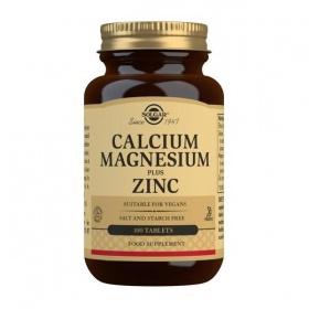 Solgar Calcium Magnesium Plus Zinc Tablets - Pack of 100