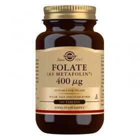 Solgar Folate (as Metafolin) 400 mcg Tablets - Pack of 100