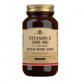 Solgar Vitamin C 1500 mg (1.5 grams) with Rose Hips Tablets - Pack of 180