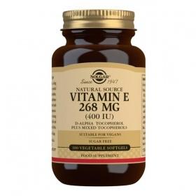 Solgar Natural Source Vitamin E 268 mg (400 IU) Softgels - Pack of 100