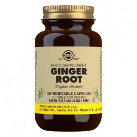 Solgar Ginger Root Vegetable Capsules - Pack of 100