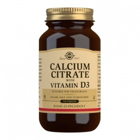Solgar Calcium Citrate with Vitamin D3 Tablets - Pack of 240