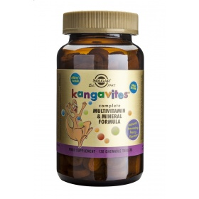 Solgar Kangavites Bouncing Berry Complete Multivitamin and Mineral Formula Chewable Tablets - Pack of 120