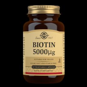 Solgar Biotin 5000 mcg Vegetable Capsules - Pack of 50