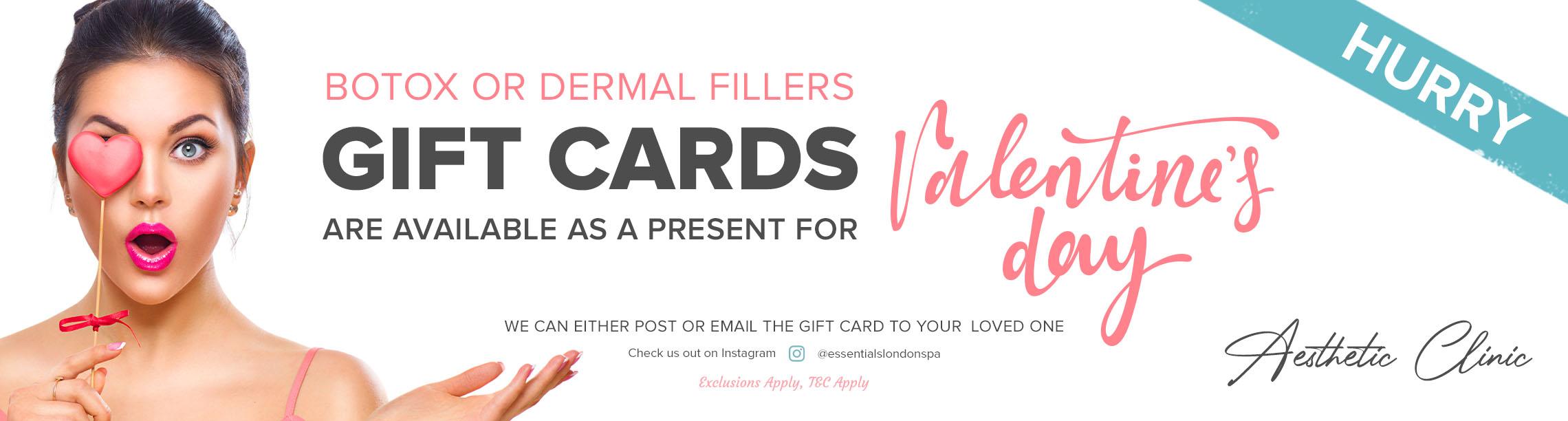 Botox or Dermal Fillers Gift Cards