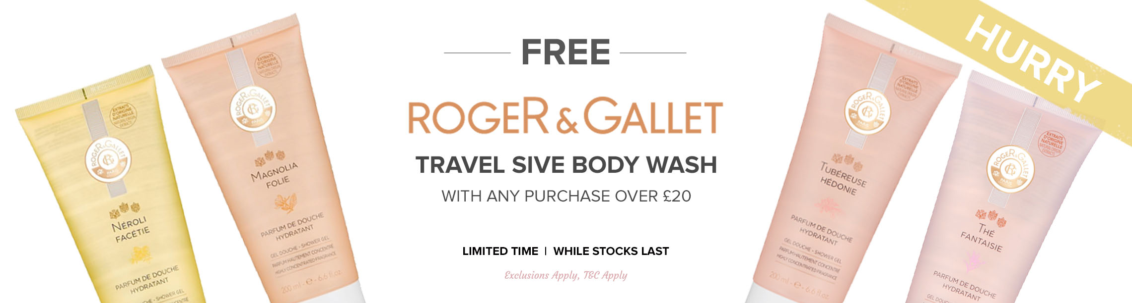 Free Roger & Gallet Travel Size Body Wash