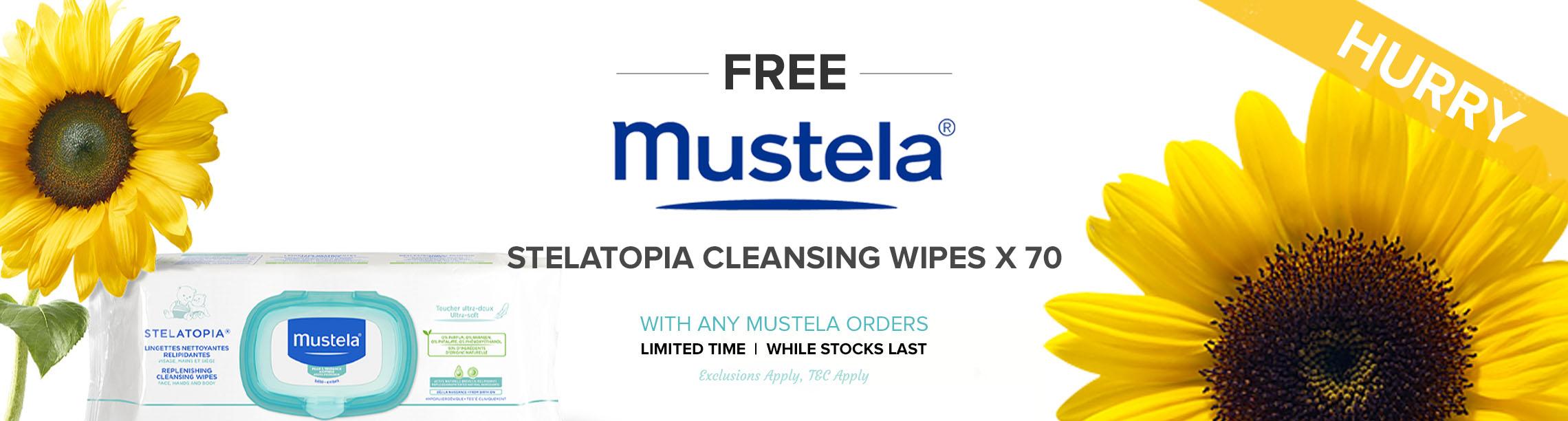 Free Mustela Stelatopia Cleansing Wipes