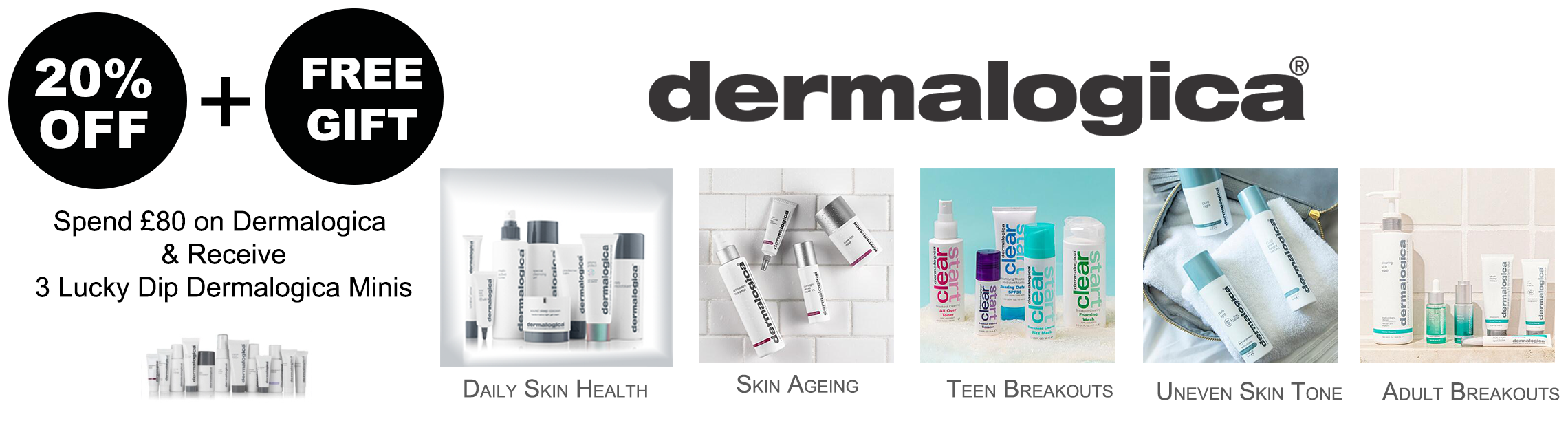 25% Dermalogica plus gifts on orders over £80
