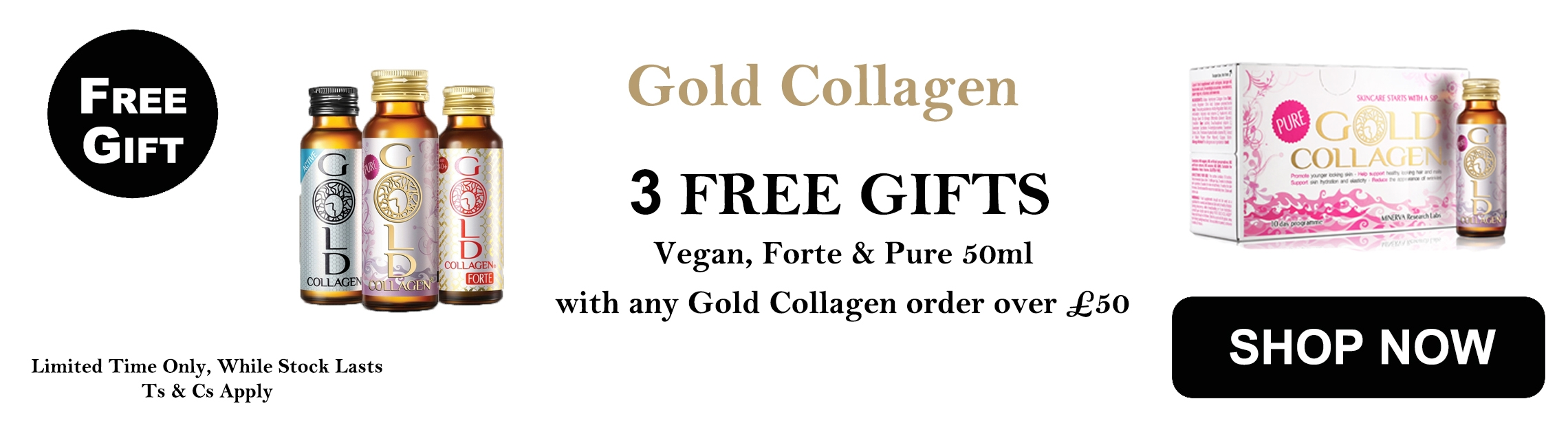 Gold collagen free gift
