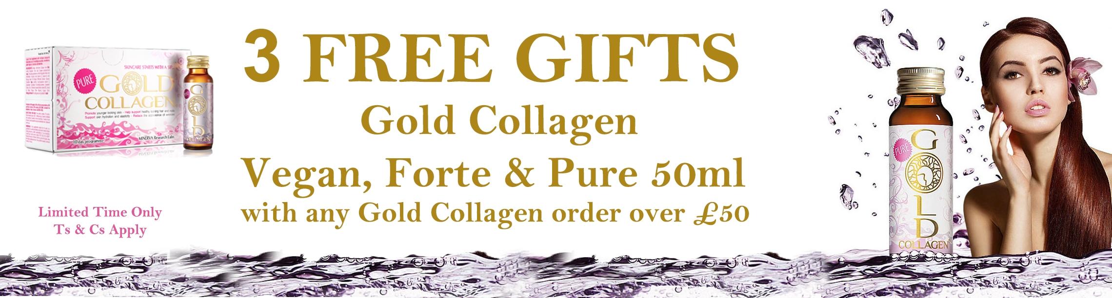 Gold collagen free gift