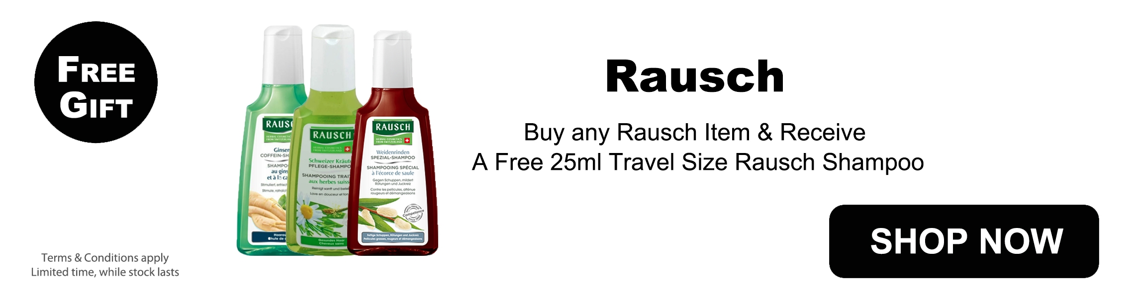 Free Gift with any Rausch purchase - Best Shampoo