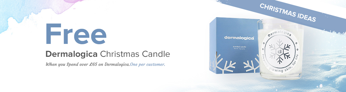Free Dermalogica Candle with any purchase over £65