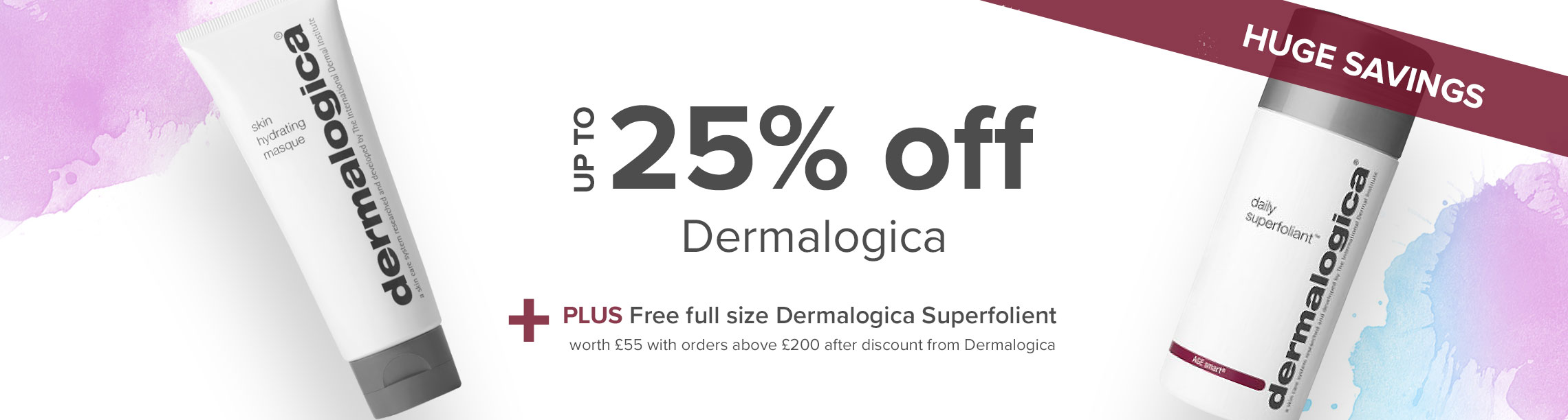 up to 20% off dermalogica plus free gift